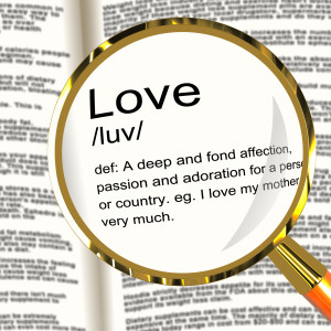 Love Definition Magnifier Shows Loving Valentines And Affection